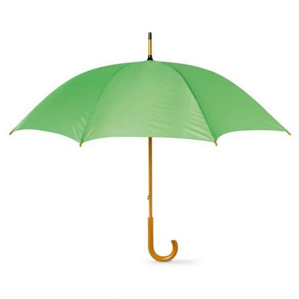 Umbrela 23 inch, maner curbat din lemn, Everestus, 20IAN811, Verde, Poliester