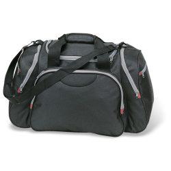 Geanta sport sau de voiaj, poliester, Everestus, GS1, negru, saculet de calatorie si eticheta bagaj incluse