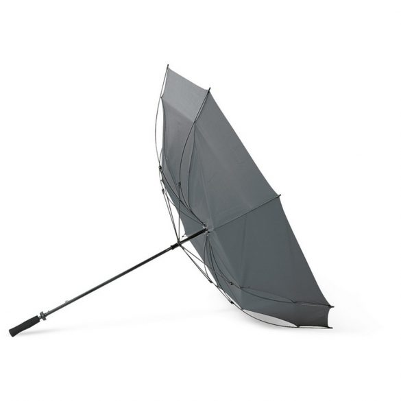 Umbrela 30 inch, maner EVA, rezistenta la vant, Everestus, 20IAN840, Gri, Poliester 190T