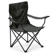 Scaun pliabil, de plaja sau camping, sustine maxim 100 kg, Everestus, 20IAN1878, Negru, Metal