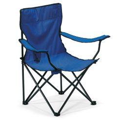 Scaun pliabil, de plaja sau camping, sustine maxim 100 kg, Everestus, 20IAN1879, Albastru, Metal