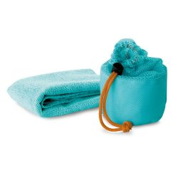 Prosop pt. sport in husa, Towel cloth, blue