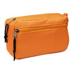 Borseta cosmetice pentru voiaj, Everestus, SST02, poliester 600D, portocaliu, saculet de calatorie inclus
