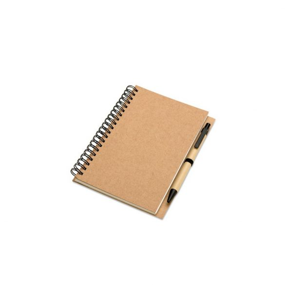 Bloc notes reciclabil si pix, Paper, beige
