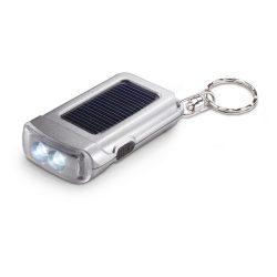 Breloc cu lanterna, Plastic, matt silver