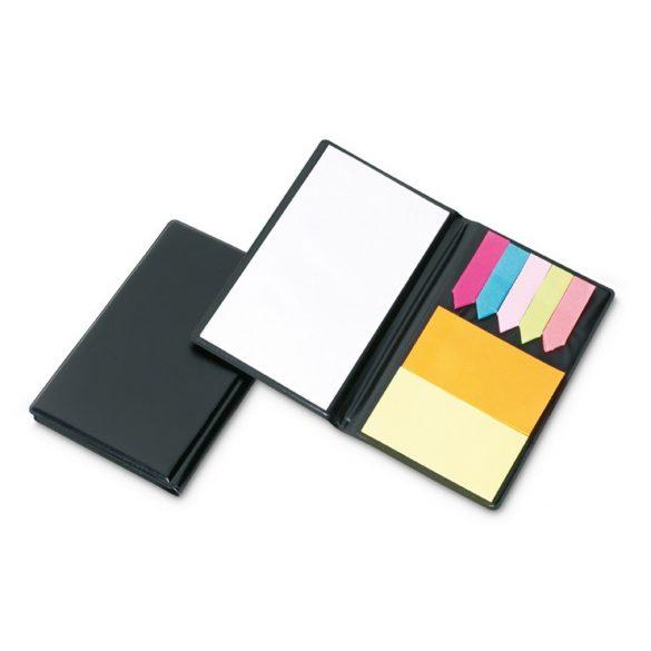 Set notite adezive, Paper, black