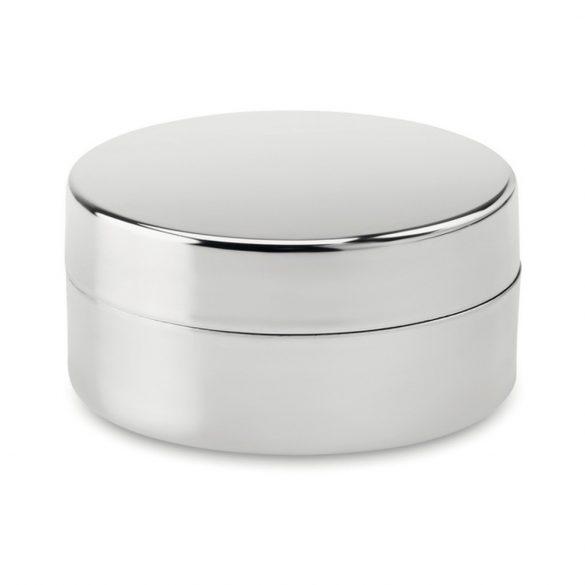Balsam buze in cutie argintie, Plastic, shiny silver