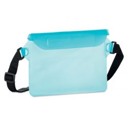 Borseta rezistenta la apa, Everestus, 20IAN415, PVC, Transparent, Albastru