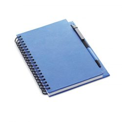 Carnet reciclabil cu pix, Paper, blue