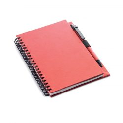 Agenda reciclabila cu pix, Paper, red