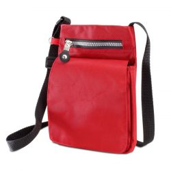 Suport pasaport 420D, poliester, red