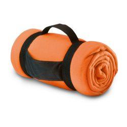 Patura de picnic confortabila, 150x120 cm, Everestus, PP04, poliester, portocaliu, saculet de calatorie inclus