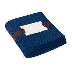 Patura polar 125x150 cm, 240 gr/mp, poliester, Everestus, PA13, albastru, saculet sport inclus