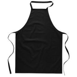 Sort bucatarie pentru gatit, Everestus, SB17, bumbac, negru, saculet de calatorie inclus
