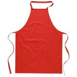 Sort bucatarie pentru gatit, Everestus, SB27, bumbac, rosu, saculet de calatorie inclus