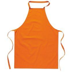 Sort bucatarie pentru gatit, Everestus, SB23, bumbac, portocaliu, saculet de calatorie inclus