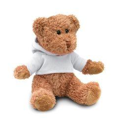 Ursulet din plus cu tricou, Plush, white