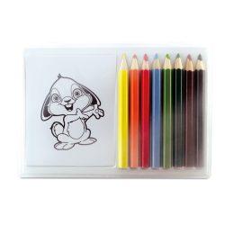 Set de colorat cu 8 creioane, Everestus, 20APR009, lemn, multicolor