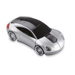 Mouse fara fir in forma masina, Plastic, matt silver