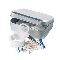 Trusa de prim ajutor in cutie, metal, Everestus, TSPA24, gri, saculet de calatorie inclus