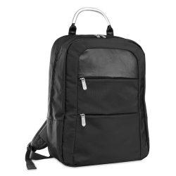 Rucsac microfibra pentru Laptop 13 inch, poliester, Everestus, GL25, negru, saculet de calatorie si eticheta bagaj incluse