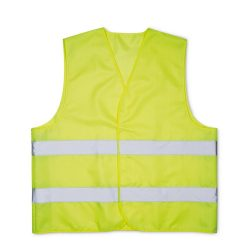 Vesta de siguranta din poliester cu dungi reflectorizante, Everestus, VE02, galben