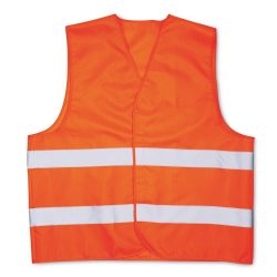 Vesta din poliester, poliester, orange