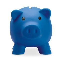Pusculita porc din pvc si abs, 90x70x70 mm, Everestus, MBP02, plastic, albastru, radiera inclusa