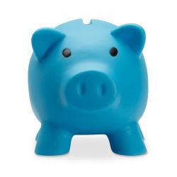 Pusculita porc din pvc si abs, 90x70x70 mm, Everestus, MBP07, plastic, turcoaz, radiera inclusa