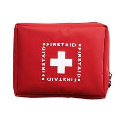 Trusa de prim ajutor, poliester, Everestus, TSPA08, rosu, saculet de calatorie inclus