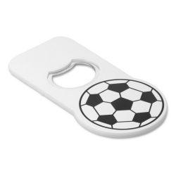 Desfacator sticle cu design minge de fotbal, plastic, Everestus, DSE12, alb, negru, laveta inclusa