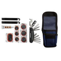 Set pentru reparat bicicleta, Everestus, AR01, poliester 600D, albastru, saculet de calatorie inclus