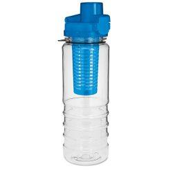 Sticla cu locas pentru fructe, Plastic, blue
