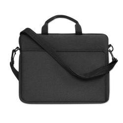 Geanta pentru Laptop 14 inch, neopren, Everestus, GL16, negru, saculet de calatorie si eticheta bagaj incluse
