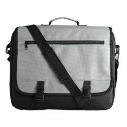 Geanta pentru documente, compartimente diverse, Everestus, GD01, poliester 600D, gri, saculet si eticheta bagaj incluse