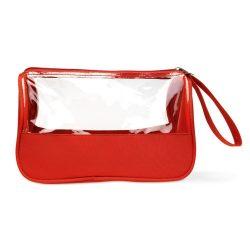 Geanta cosmetice, materiale multiple, red
