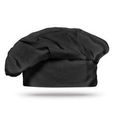 Boneta chef 130 gr/m2, bumbac, black