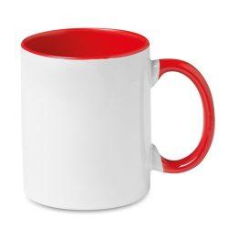 Cana colorata pentru sublimare, Ceramics, red