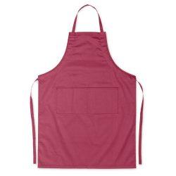 Sort de bucatarie reglabil, 2 buzunare frontale, Everestus, SB05, poliester, bumbac, rosu burgundy, saculet de calatorie inclus