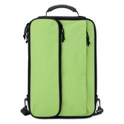 Geanta pentru Laptop de 15 inch, poliester, Everestus, GL13, verde lime, saculet de calatorie si eticheta bagaj incluse