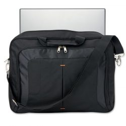 Geanta moderna pentru laptop, poliester, black