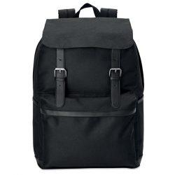 Rucsac elegant pentru laptop, poliester, black