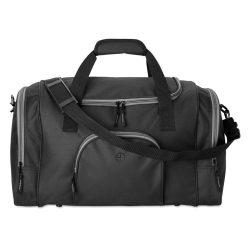 Geanta sport din poliester 600D, Everestus, GS6, negru, saculet de calatorie si eticheta bagaj incluse