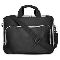 Geanta pentru Laptop de 15 inch, poliester, Everestus, GL11, negru, saculet de calatorie si eticheta bagaj incluse