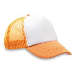 Sapca din poliester plasa, in, neon orange