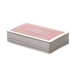 Carti de joc in cutie plastic, Plastic, red