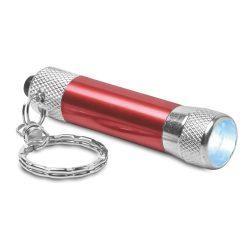 Breloc lanterna led, Everestus, KR0572, aluminiu, rosu