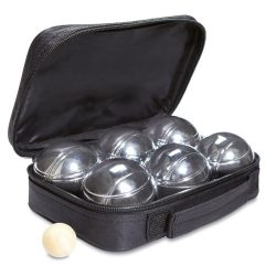 Joc cu 6 bile metalice, in husa, 22x6x15 cm, Poliester 600D, Metal, Everestus, JD1, negru