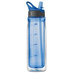 Sticla de baut perete dublu 550 ml, tritan, Everestus, RA2, albastru royal, saculet de calatorie inclus