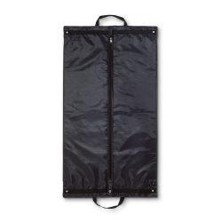Husa de costum simpla, fermoar frontal, Everestus, EO01, poliester, negru, saculet de calatorie si eticheta bagaj incluse